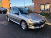 Peugeot 206 1.4 estate 64k full service history