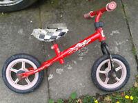 Balance Bike for 2 to 4 year old, Red, adjustable height seat and handle bars