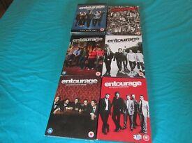 entourage DVD's Seasons 1-6 Good condition £15 the lot