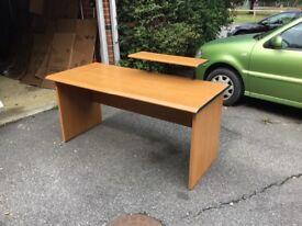 Wooded office desk