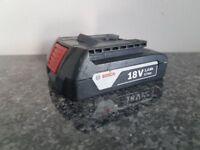 BOSCH 18v Li-ion 1.5ah battery
