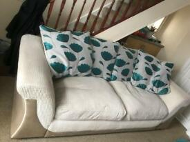 Sofa large 2 seater and chair