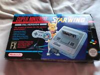 Boxed SNES Starwing special edition