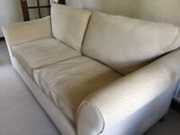 M&S Abbey large sofa in Sand chenille fabric with dark feet. Very good condition