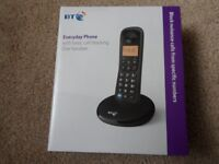 BT EVERYDAY CORDLESS PHONE with call blocking and volume control