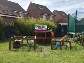 RABBIT/GUINEA PIG HUTCH RUNS AND ACCESSORIES