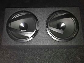 Sub 1200 watts together - can be sold with an amplifier- please ask for price for both