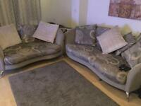 Stunning Grey Scatter Back Sofas