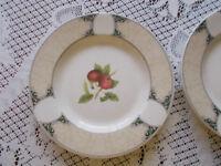Two Arthur Woods dinner plates