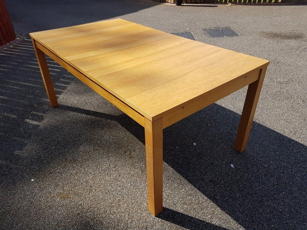 Ikea Extending Bjursta Oak Table 6 Solid Suede Chairs Free Delivery 966 In Leicester Leicestershire Gumtree