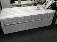 Divan bed with mattress single