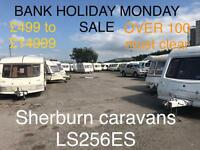 Abi swift elddis fleetwood coachman hobby caravan