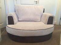 Matching Sofa and Cuddle Chair, both in good condition. Collection only.