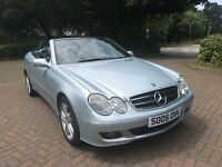 Mercedes CLK Convertible 1.8 Automatic in Silver 2005 73,000 miles