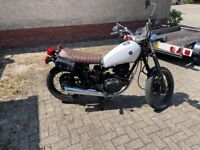 Yamaha sr125 cafe style 125cc project almost complete may swap why ???