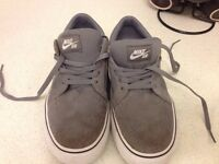 Nike suede SB trainers size 5.5 in grey