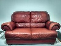 Leather sofa 2 seat