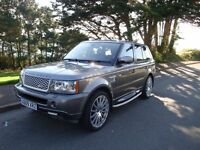 RANGE ROVER SPORT 2.7 SE TDV6 2009 61,000 MILES NEW MOT, FSH, COLOUR STORNOWAY GREY,BLACK LEATHER