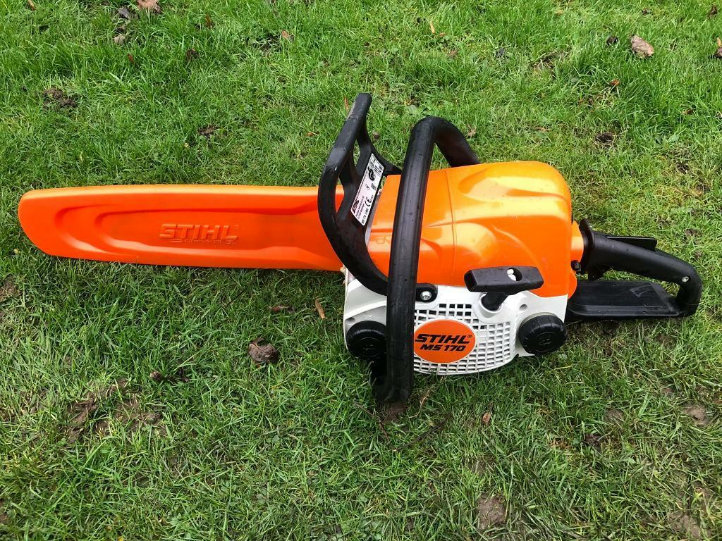"2016 Stihl MS170 Chainsaw 12"" Inch Bar Chain Saw Tree Wood Cutting Logs 