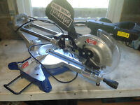 """SCHEPPACH SLIDING DOUBLE COMPOUND MITRE SAW WITH LASER GUIDE 34"""" CUT 240V"""