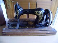Sewing machine, hand operated
