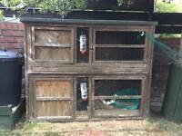 Double rabbit / guinea pig hutch