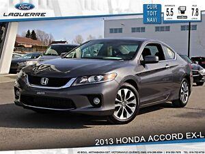 2013 Honda Accord **EX-L*AUTO*CUIR*TOIT *NAVI*CAMERA*A/C 2 ZONES