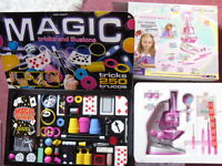Magic Tricks and Microscope sets