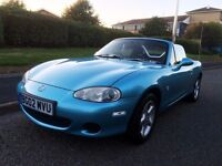 Mazda MX-5 1.8 Convertible, CHROME STYLING, FULL HISTORY, CAMBELT changed, Excellent Condition