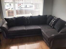 DFS corner sofa and matching storage footstool