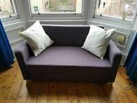 Navy blue IKEA sofa bed