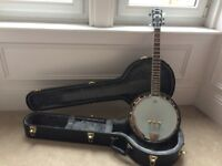 Fender rustler 6 string banjo with hard case in mint condition