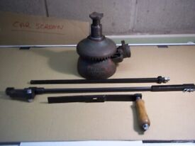 1971 ERNE LAKE TL 4 Ton (triple lift) Screw Jack with three piece handle 18 inch lift £40