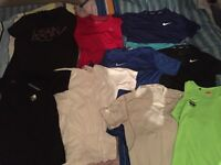 £5 each- Sweat Proof Professional Running Gym Sports Glow In The Dark T-Shirts by Nike Size Small