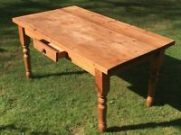 Solid pine table - vintage/ shabby chic