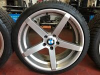 BMW ALLOYS WITH DUNLOP SPORT WINTER TYRES 19INCH