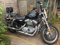 Harley Davidson XL1200 Sportster 2004 (rubber mounted engine, Hagon shocks, very smooth)