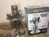 Brand new boxed Cutlery 24 pcs revolving