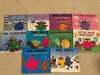 10 Limited edition Mr Men and Little Miss books