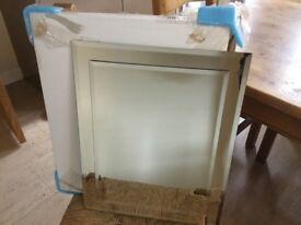 Unused elegant rectangular bathroom mirror