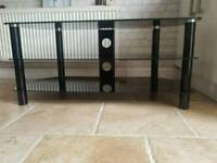 BLACK TV STAND MINT CONDITION £30.00 O.N.O