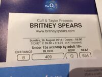 Britney Spears x 4 tickets for 02 London on Sunday 26th August