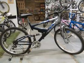 RALEIGH EXPLORE GS BIKE 26 INCH WHEELS 18 SPEED FULL SUS GOOD CON CHRISTMAS?