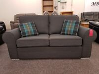 Ex Display Dark Grey Fabric 2.5 Seater Sofa Bed **CAN DELIVER**