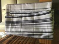 Next grey,black n white stripped shower curtain.