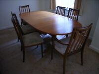 G Plan Dining Table and Six Chairs