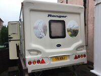 Bailey Ranger 470/4 2004 end washroom 4 berth caravan