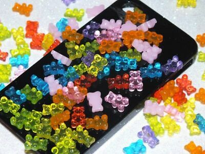 CHOOSE COLOUR 20 Tiny Gummi Bears Haribo FAKE Sweets Decoden Craft DIY Resin](Haribo Gummi Bears)