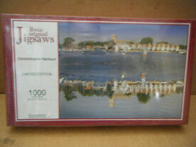 Collectable CHRISTCHURCH HARBOUR, Limited Edition 1000 piece jigsaw puzzle. New & Sealed.