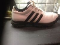 Adidas golf shoes U.K. 8 . Great condition . Worn twice but too tight